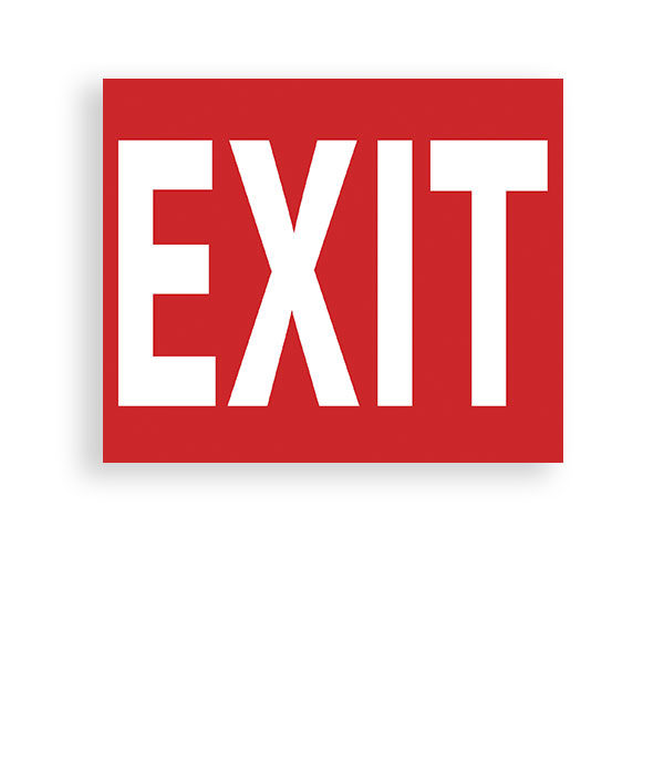 Sign Exit