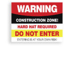 Sign Warning Construction Zone