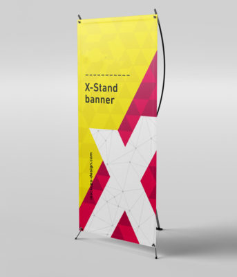 X Frame Banner & Stand 32″x71″