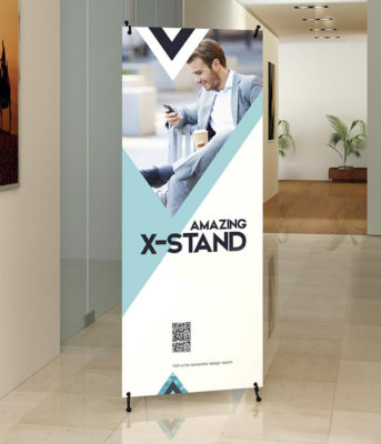 X Frame Banner & Stand 48″x79″